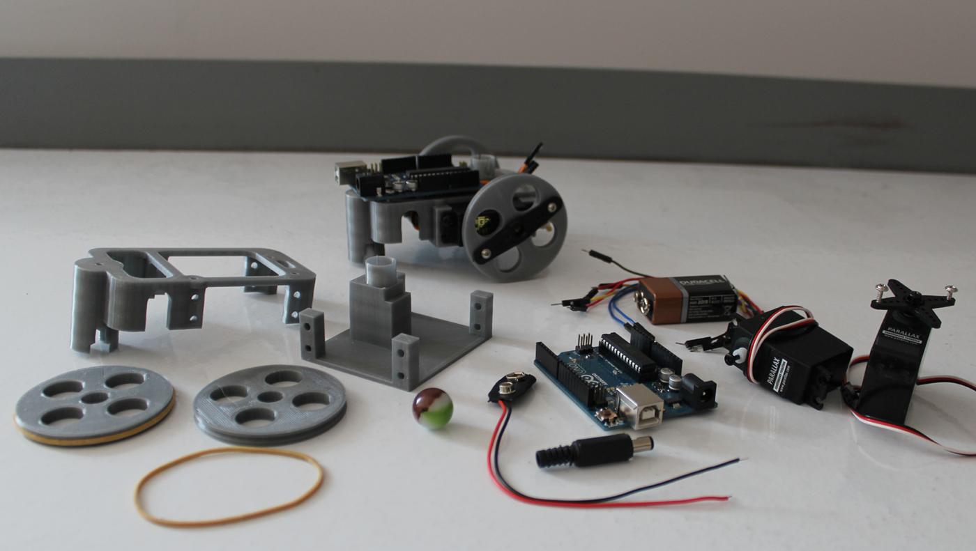 Liste du matériel pour la construction du robot